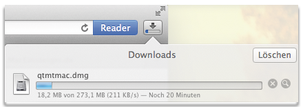 Downloadfenster MT5 auf Mac