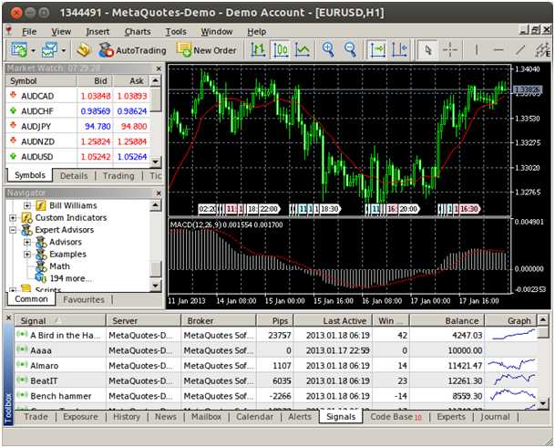 Metatrader 4 Demokonto