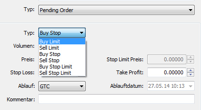 Limit Order MetaTrader 5